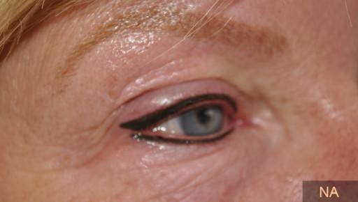 wenbrauw hairstroke en eye liner na de behandeling