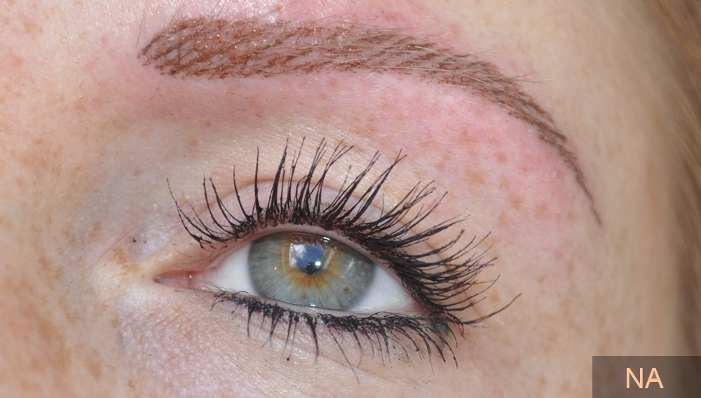 permanente wenkbrauw makeup na